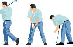 高尔夫球运动员顺序 库存照片