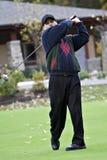 高尔夫球运动员10月 免版税库存图片