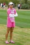 高尔夫球运动员lexi lpga汤普森妇女的 免版税图库摄影