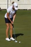 LPGA高尔夫球运动员Stacy刘易斯胜利在菲尼斯 库存照片