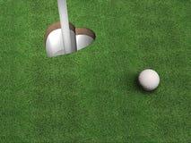高尔夫球重点 免版税图库摄影