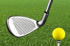 高尔夫球铁俱乐部 免版税库存照片