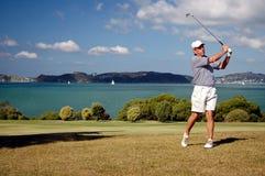高尔夫球铁冲程 库存照片