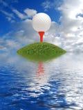 高尔夫球障碍 免版税库存图片