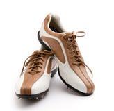 高尔夫球鞋子 库存照片