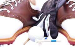 高尔夫球鞋子 图库摄影