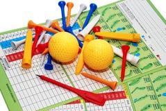高尔夫球项目 库存照片