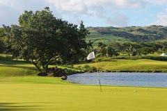 高尔夫球领域 免版税库存照片