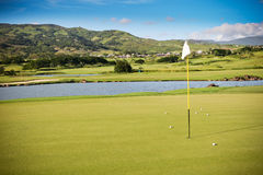 高尔夫球领域 库存图片