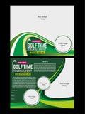 高尔夫球飞行物模板 免版税库存照片