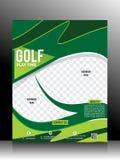 高尔夫球飞行物模板 免版税图库摄影