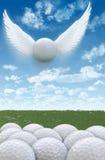 高尔夫球飞行2A 免版税库存照片