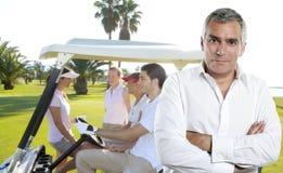 高尔夫球高尔夫球运动员人纵向前辈 库存图片