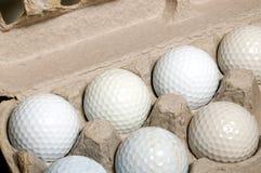 高尔夫球鸡蛋 免版税库存照片