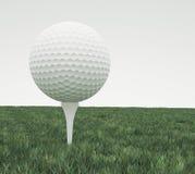 高尔夫球,唯一 免版税库存照片