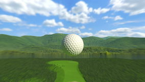 高尔夫球:在一个的孔 库存例证