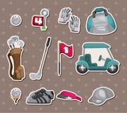 高尔夫球贴纸 免版税库存照片