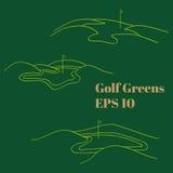 高尔夫球绿色 皇族释放例证