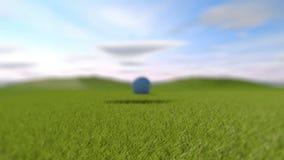 高尔夫球 落入孔的高尔夫球的动画 皇族释放例证