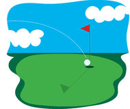 高尔夫球 免版税图库摄影