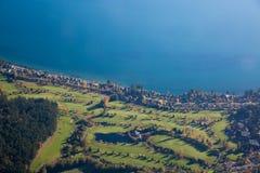 高尔夫球BC调遣空中豪华生活方式维多利亚 免版税图库摄影