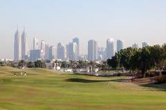 高尔夫球Cours在迪拜 免版税库存图片
