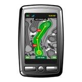 高尔夫球GPS导航员 免版税库存图片
