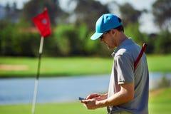 高尔夫球gps设备 库存照片
