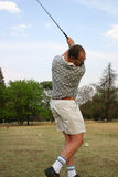 高尔夫球swing2 库存图片