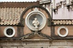 从高尚的庭院的建筑细节天使城堡的在罗马 免版税库存图片