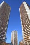 高层公寓在Musashikosugi 库存照片