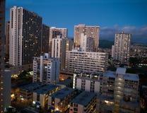 高层在檀香山夏威夷 库存照片