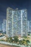 高层居民住房在香港市 免版税库存图片