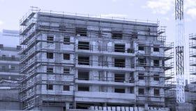 高层居民住房建筑工作  库存照片