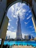 高层建筑在世界上突出在828 m 免版税库存图片