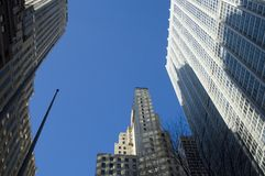 高层建筑在纽约 免版税库存图片