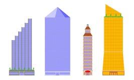 高层建筑物传染媒介  库存例证