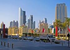 高层建筑物在迪拜 库存照片