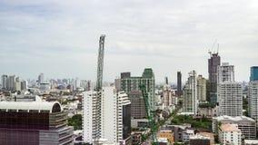 高层时间间隔都市风景曼谷地平线在泰国 股票视频
