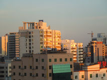 高层建筑物在海口,海南岛 图库摄影