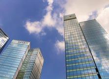 高层建筑物在BGC Bonifacio全球性城市,菲律宾 库存照片
