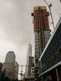 高层建设中在世界贸易中心一号大楼南部,新 库存照片