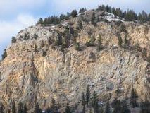 高山俯视 库存照片