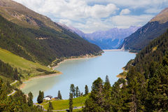 高山全景 可西嘉岛科西嘉岛creno de法国LAC湖山山 库存图片