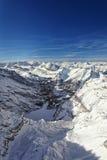 高山冬天天线风景 库存图片