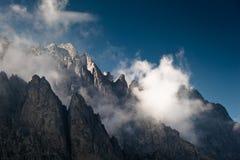 高山可爱的风景 免版税库存图片