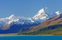 高山在南阿尔卑斯山脉 免版税图库摄影