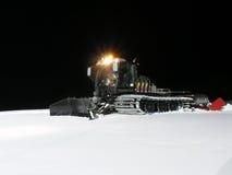 高山场面雪冬天 库存图片