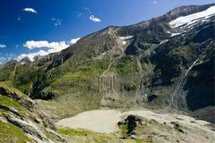 高山奥地利冰川grossglockner横向 库存图片