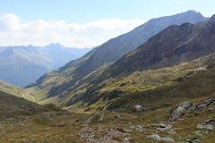 高山小屋Eisseehutte和山全景, Hohe Tauern阿尔卑斯,奥地利 免版税库存照片